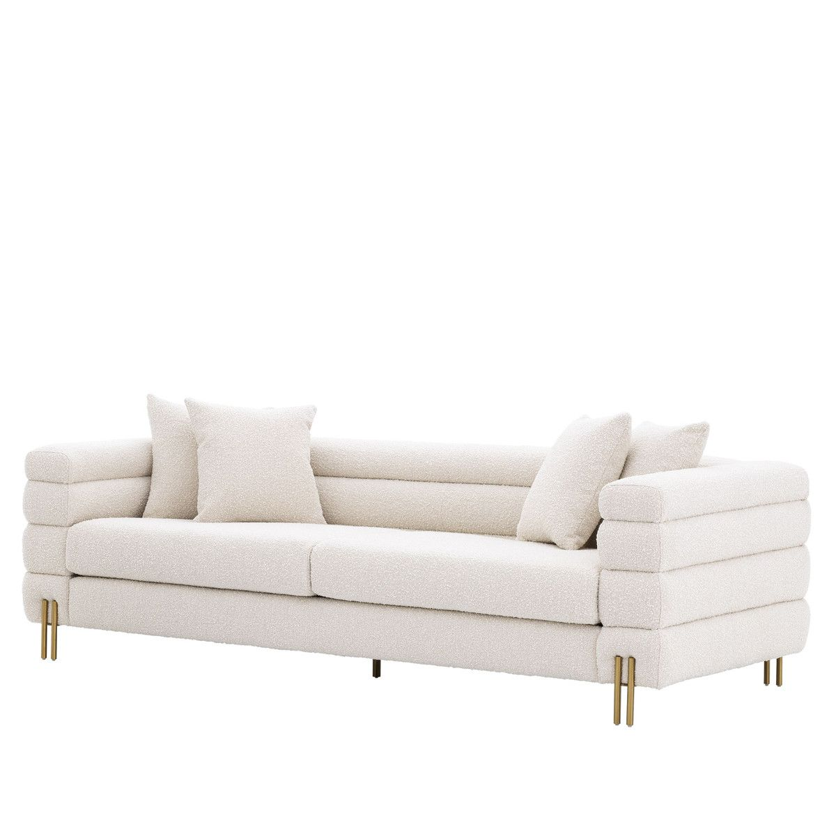Eichholtz York Sofa 230 Cm Bouclé Cream Living Room Furniture Styles Sofa Sofa Furniture