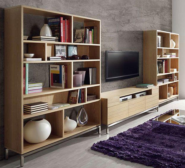Muebles quadratura arquitectos salon de madera natural - Salones de diseno ...