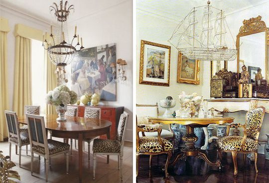 Leopard Print Dining Chairs - Поиск в Google   TABLE ...