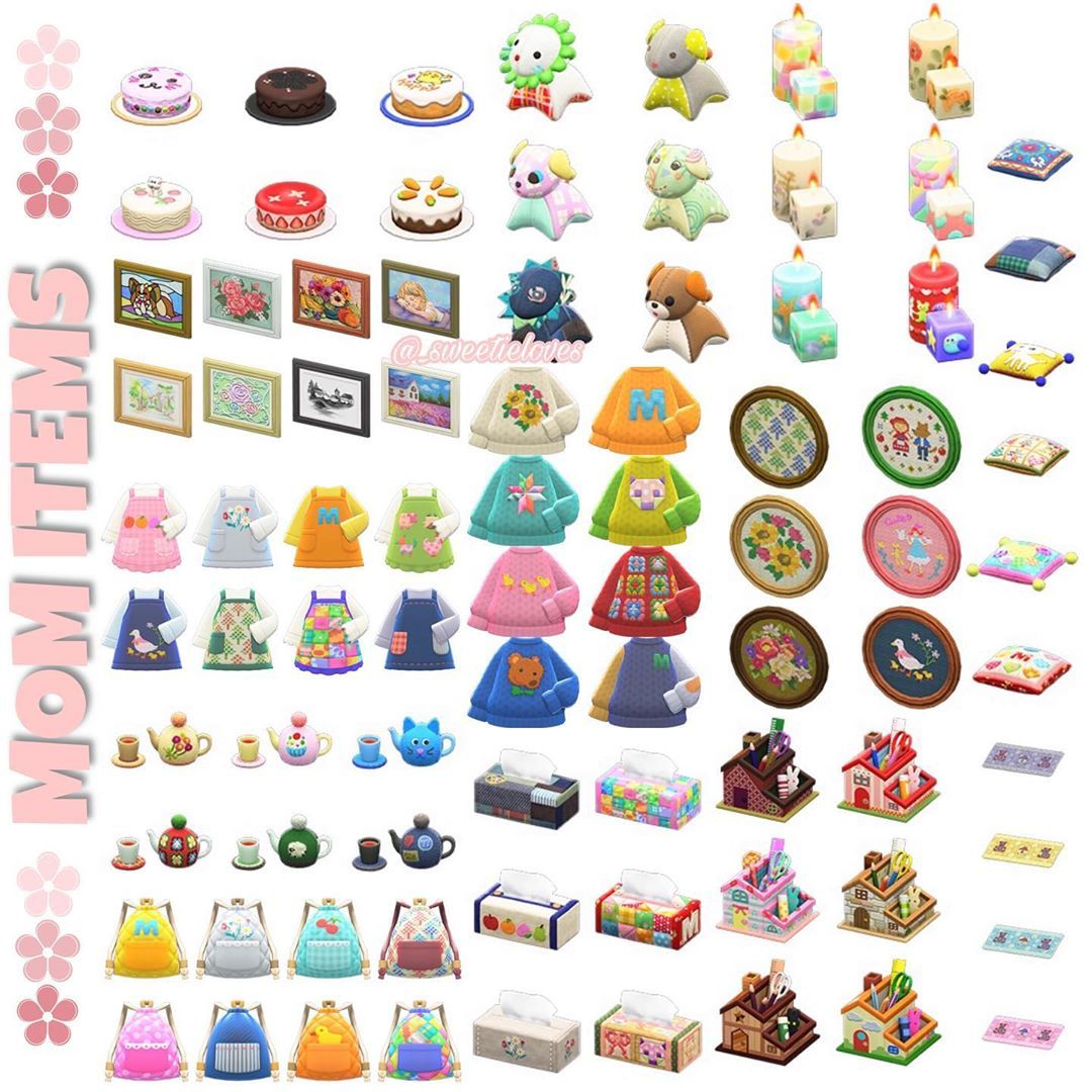Animal Crossing New Horizons On Instagram All The Mom S Items That Your Virtual Mom Can In 2020 Animal Crossing Animal Crossing Funny Animal Crossing Characters
