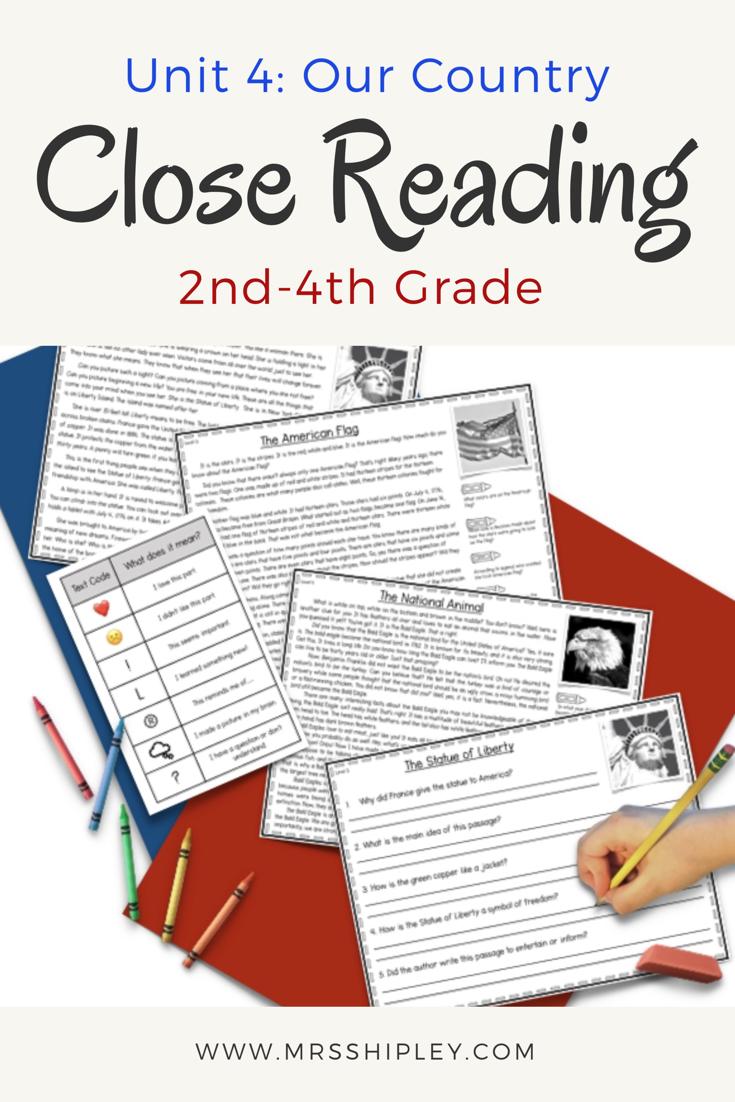 Close Reading Unit 4 Close Reading Passages Reading Passages Third Grade Reading Passages [ 1102 x 735 Pixel ]