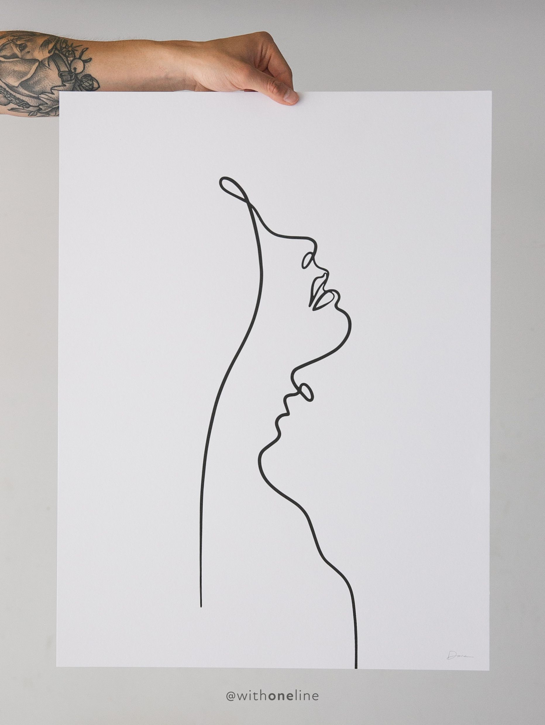 Lips In A Single Line Drawing Couple Kissing Line Art