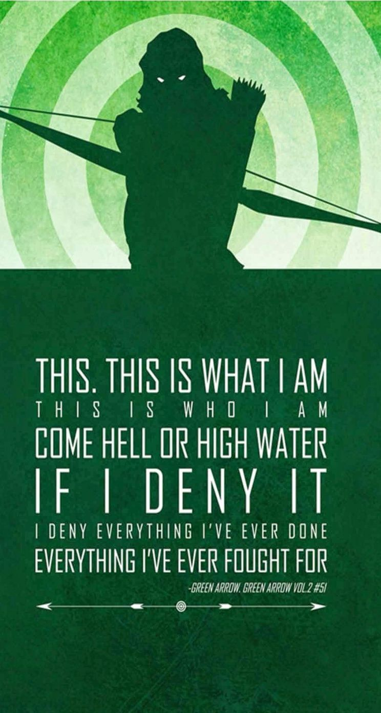 Hd wallpaper quotes for iphone - Green Arrow Quotes Iphone Wallpapers 8 Superheroes Quotes Tap To See All