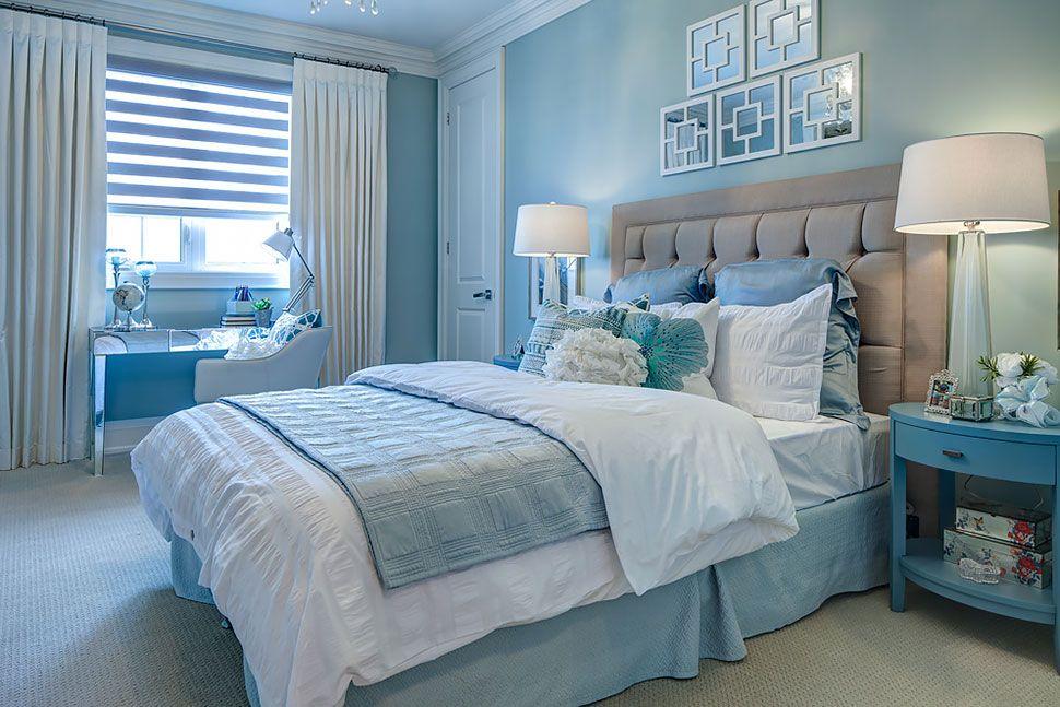 Einrichtung Schlafzimmer Interior Design Bedroom Türkis: Copperwood Kleinburg Model Home