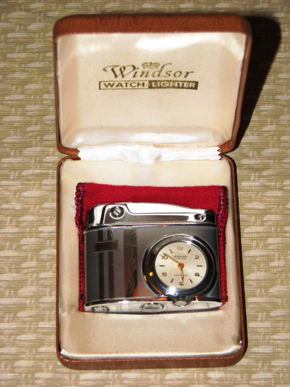 A Vintage Windsor Watch Lighter In Its Original Case The Cigarette