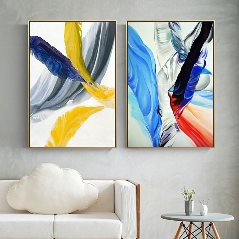 Modern Colorful Abstract Art Paintings Contemporary Fine Art