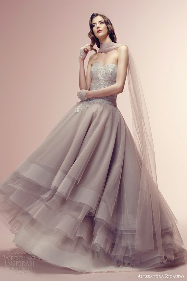 Alessandra Rinaudo 2014 Wedding Dresses | Dusty rose, Wedding and ...