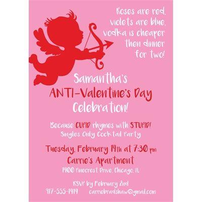 Cupid AntiValentineS Day Invitation  VDay Stuff