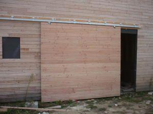 Porte coulissante garage enfin porte coulissante Porte coulissante suspendue lapeyre