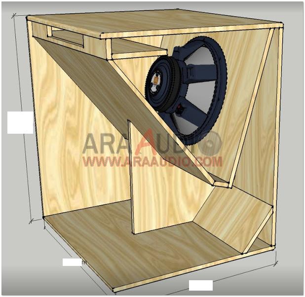 15 Inch Sub Box Plans 15 Orion Hcca Subwoofer Enclosure Speaker Box Single Ported Sub Box Subwoofer Enclosure Subwoofer Box 15 Subwoofer Box