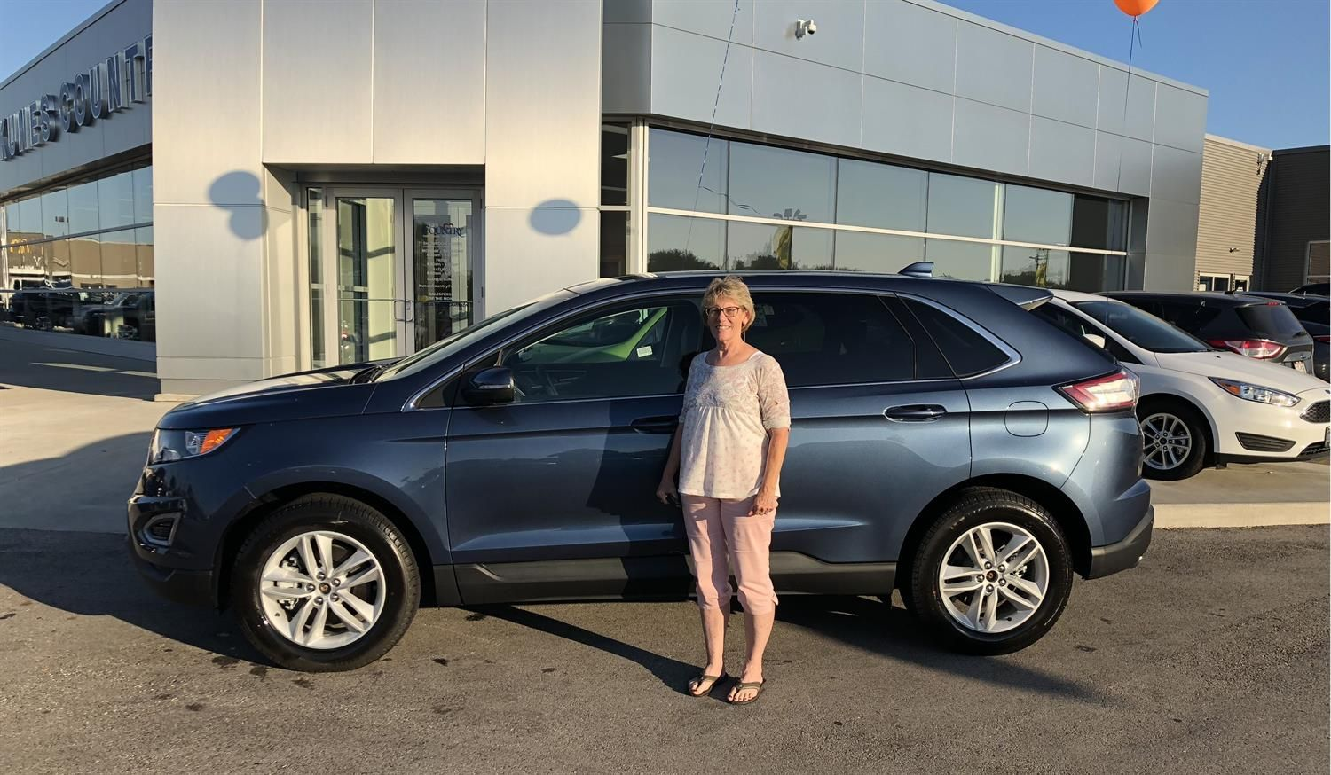 Congratulations To Margaret On Your New  Ford Edge Thank You Again Kunes Country Ford Lincoln Of Delavan And Jacqueline Mihalski