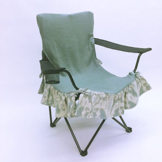 aqua blue ikat glamorous camping outdoor seat cover, floral print