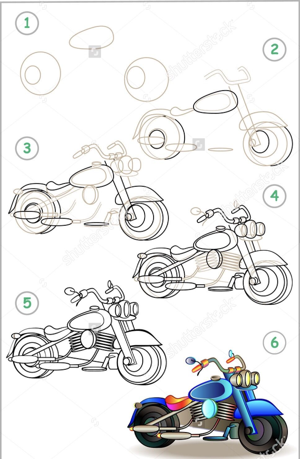Pin By Hoods On Mi Fai Un Disegno Motorbike Drawing Simple Car Drawing Motorcycle Drawing