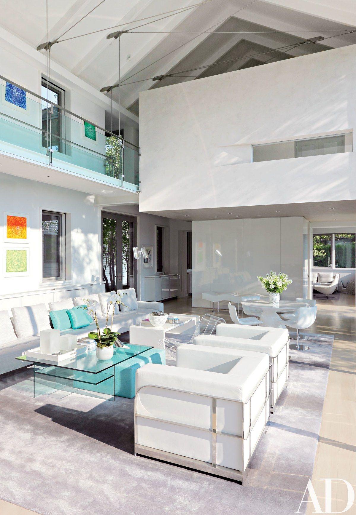 In The Double Height Living Room, Interior Designer Kenneth Alpert Used  Strategic Splashes Of