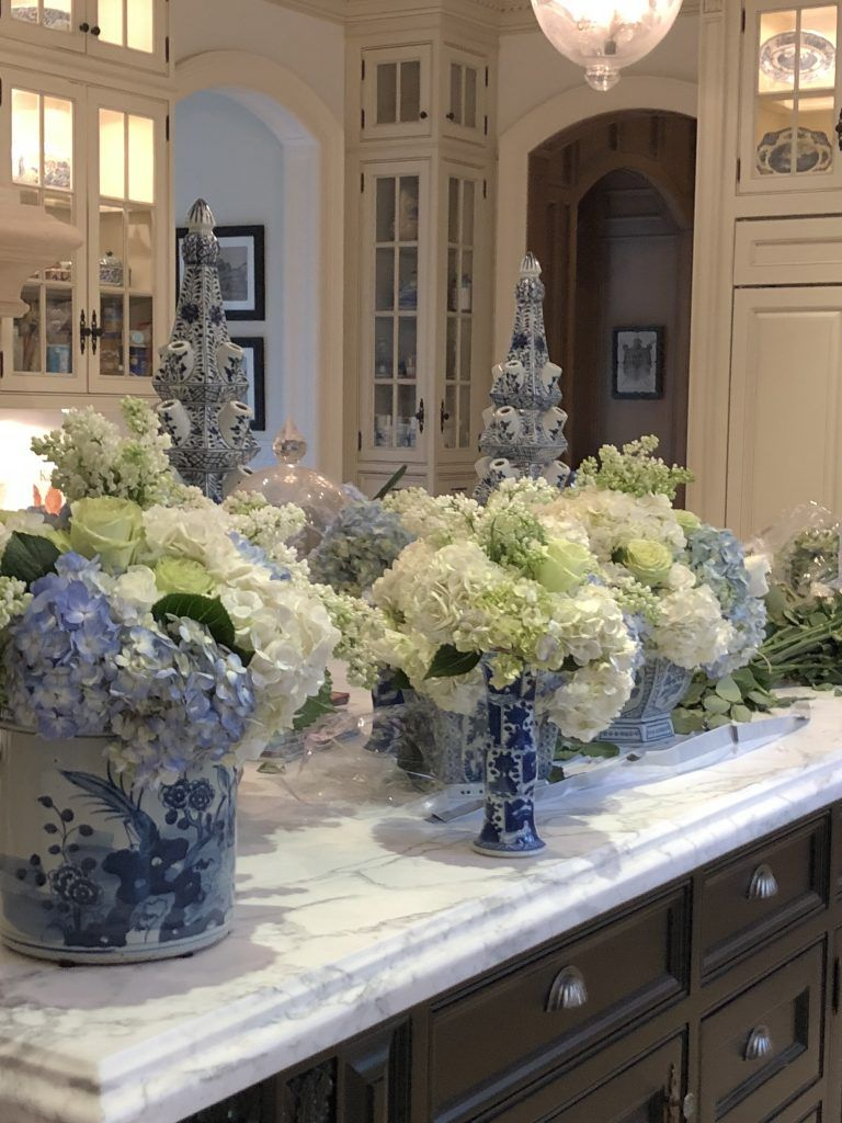 Flower Flowers Flowers Enchanted Home Blue White Decor French Country Decorating