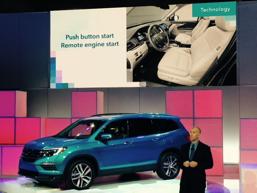 First look at the 2016 Honda Pilot! @chiautoshow #CAS2015