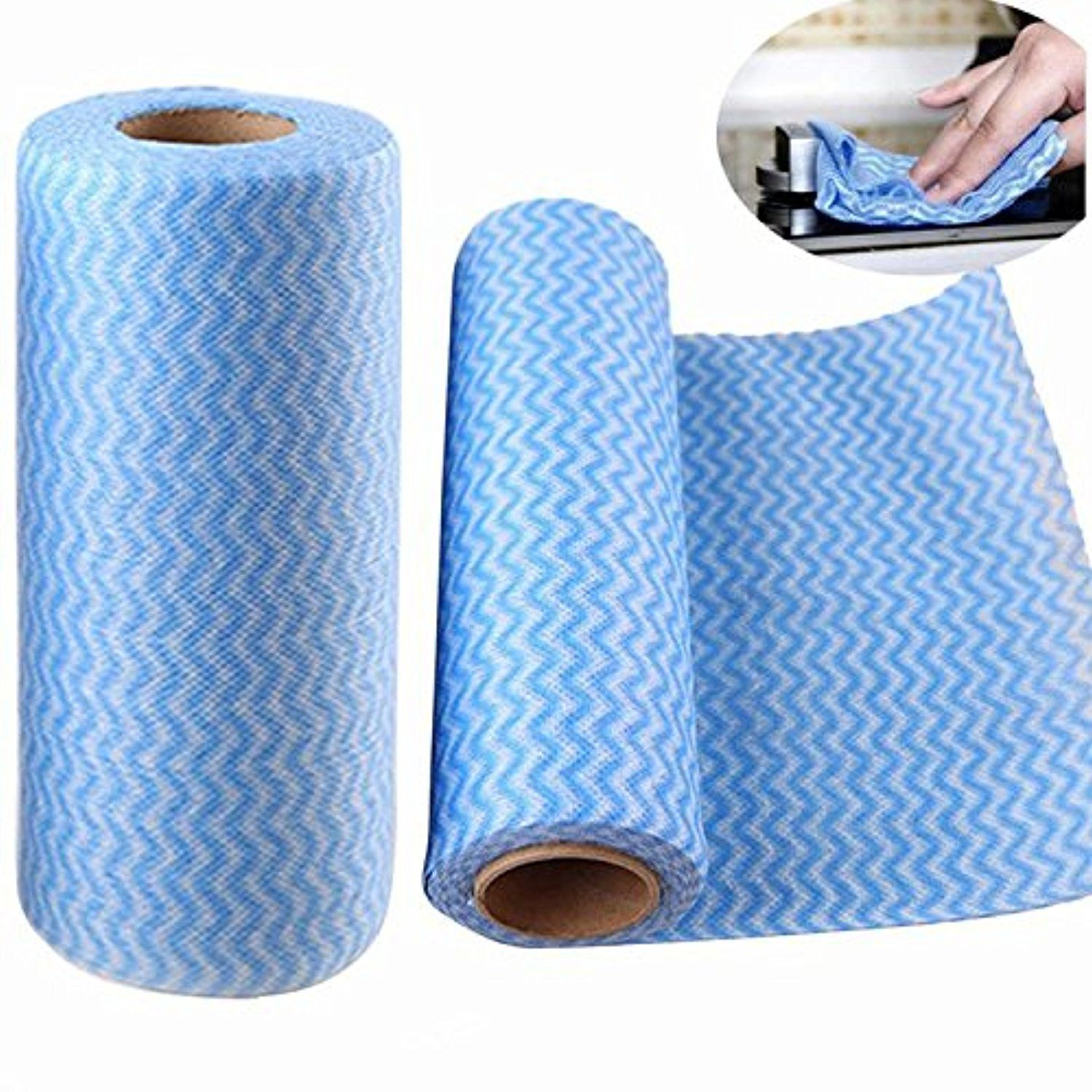 Dealglad Tear-off Point Roll Non-woven Cloth Dish Towel Home ...
