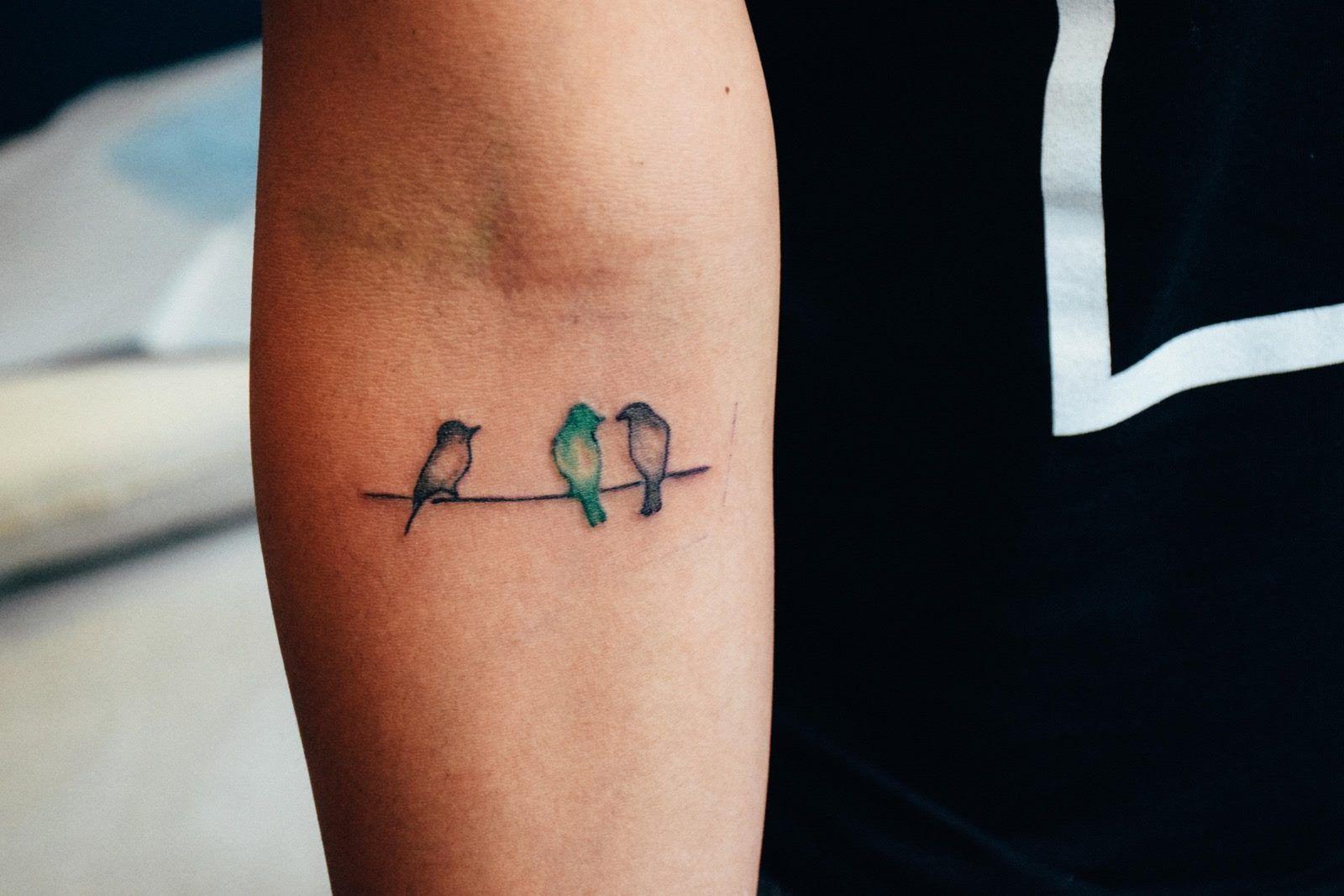 Tattoo Small Birds: Three Little Birds Done By Alan // #blacklinestudio