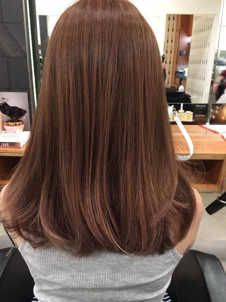 Image Result For Mocha Brown Hair Color Korean Dengan Gambar