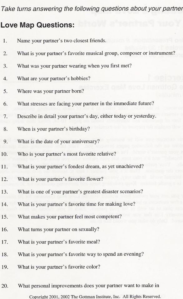 Dating couple questions
