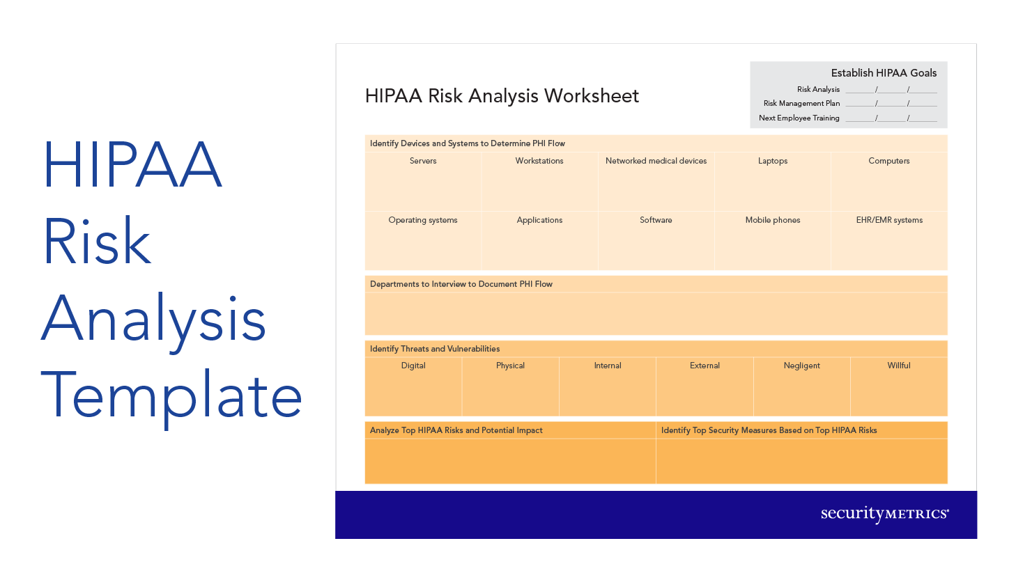 Hipaa Risk Analysis Worksheet  Hipaa Security    Risk