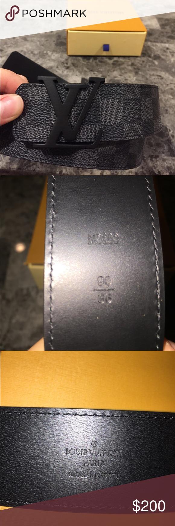 louis vuitton damier belt 100% authentic Louis Vuitton ...
