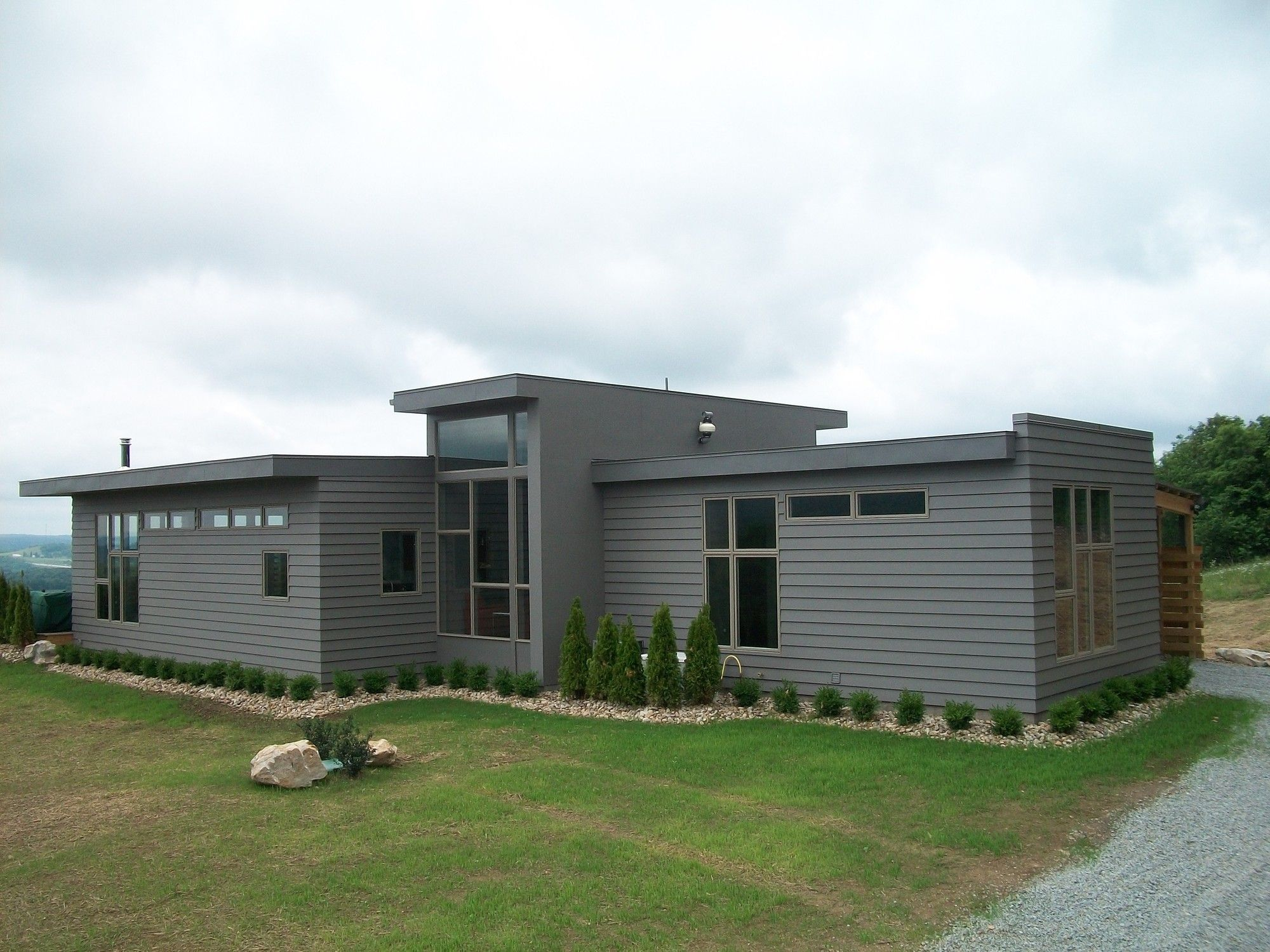 James hardie design ideas photo showcase james for Modern fiber cement siding