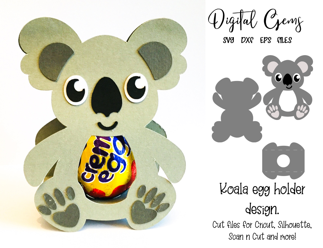 Download Koala egg holder design, SVG / DXF / EPS files | Holder ...