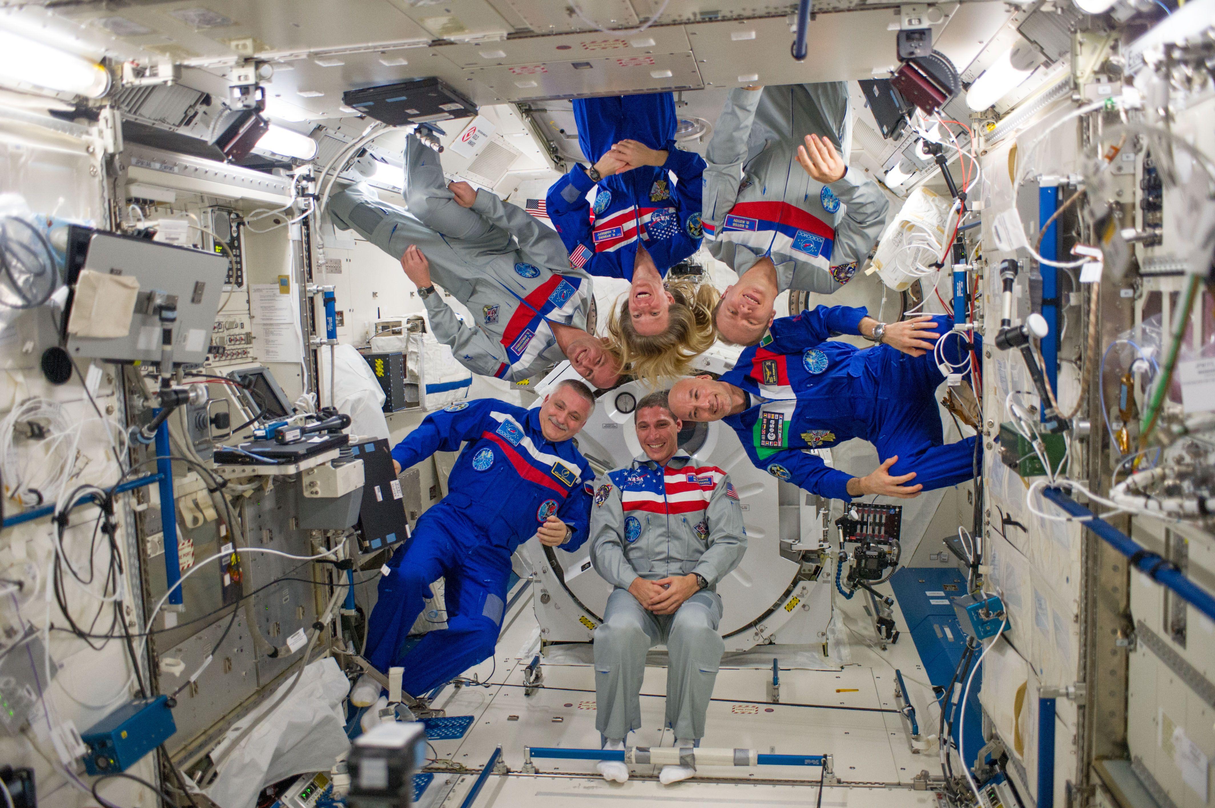 Inside International Space Station Bedroom