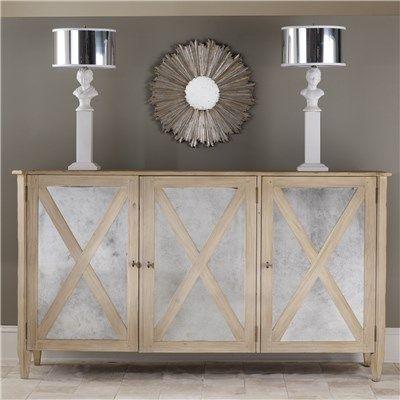 $3,419 // 73 w x 20 d x 40 h // Mirrored Three Door Cabinet