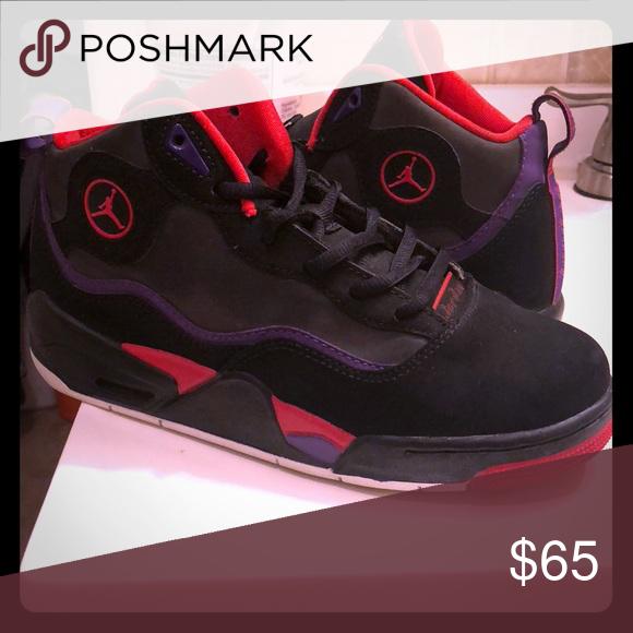 6ec727d33ba Jordan shoes worn once Red and purple Jordan Shoes Sneakers | My ...