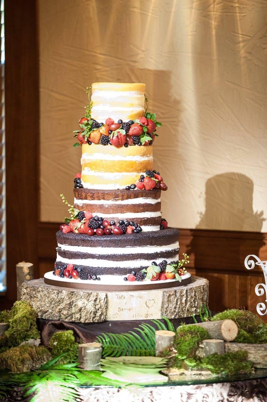 Naked Cake Color Gradient Black Forest