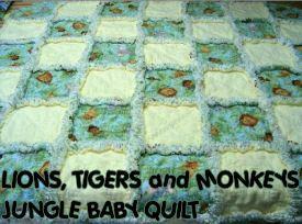 jungle baby quilt crib pattern panel block - cute jungle quilt ... : jungle quilt pattern - Adamdwight.com