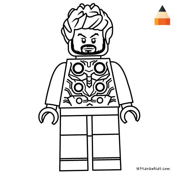 Coloring Page For Kids Thor Lego Drawing Lego Art Print Lego Coloring Thor Drawing