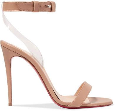 78871a6c7900 Christian Louboutin - Jonatina 100 Pvc-trimmed Leather Sandals - Neutral   highheels  shoes  christianlouboutin
