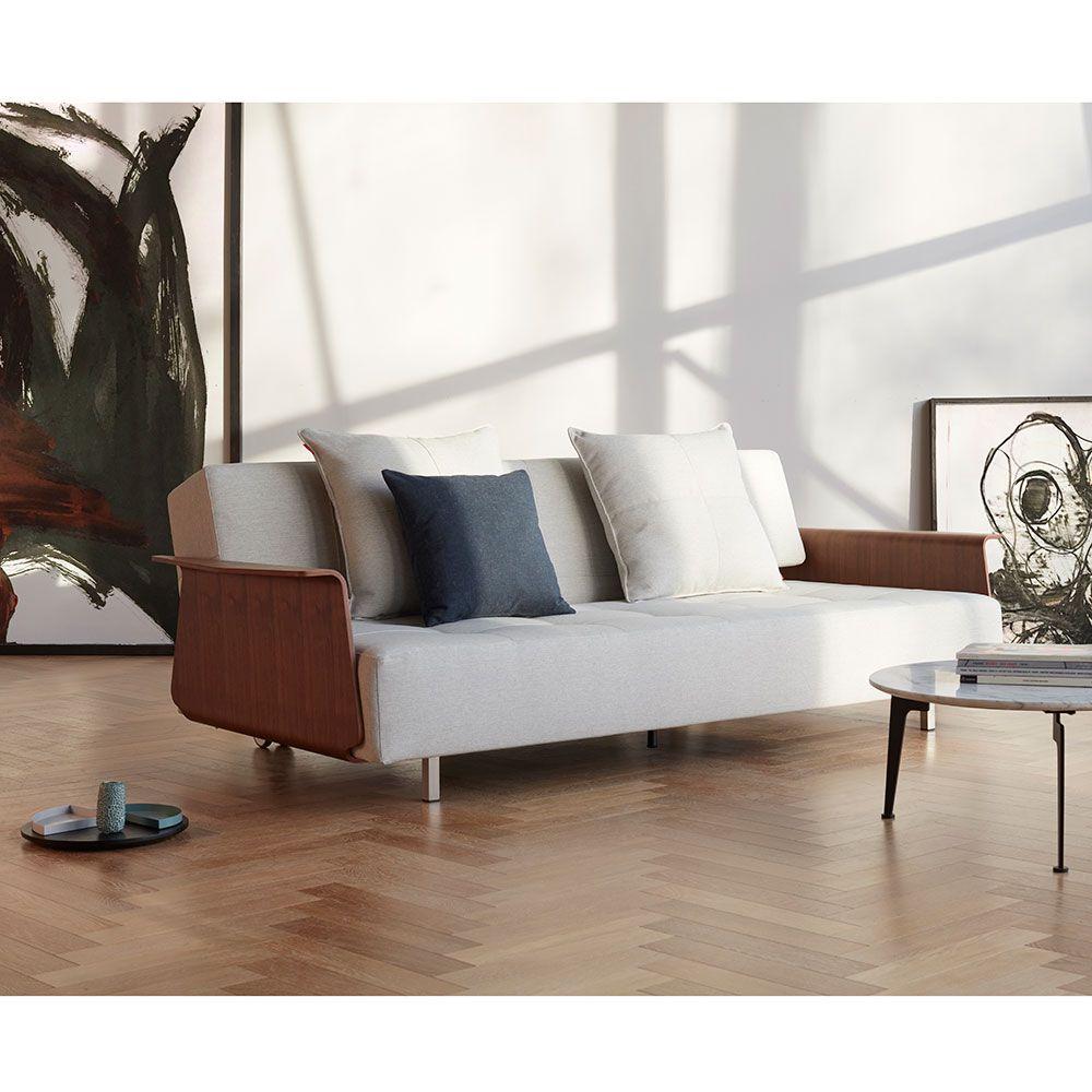Admirable Long Horn Sofa Sleeper W Arms Natural Collectic Home Inzonedesignstudio Interior Chair Design Inzonedesignstudiocom