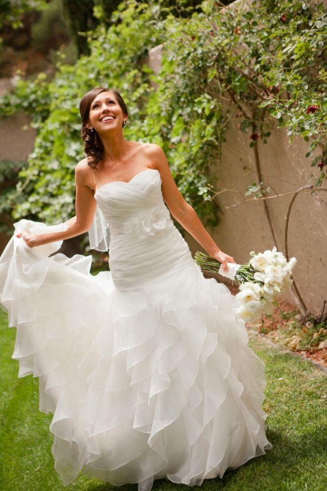 Wedding Dress - Arizona Wedding http://caratsandcake.com/staciandzach