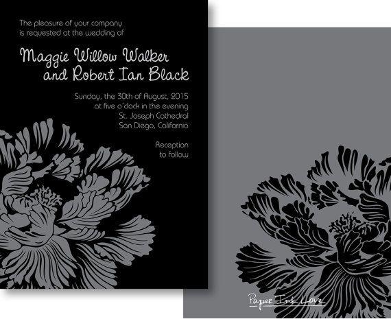 Modern Floral Wedding Invitations Formal Invitations For Wedding - formal invitation style