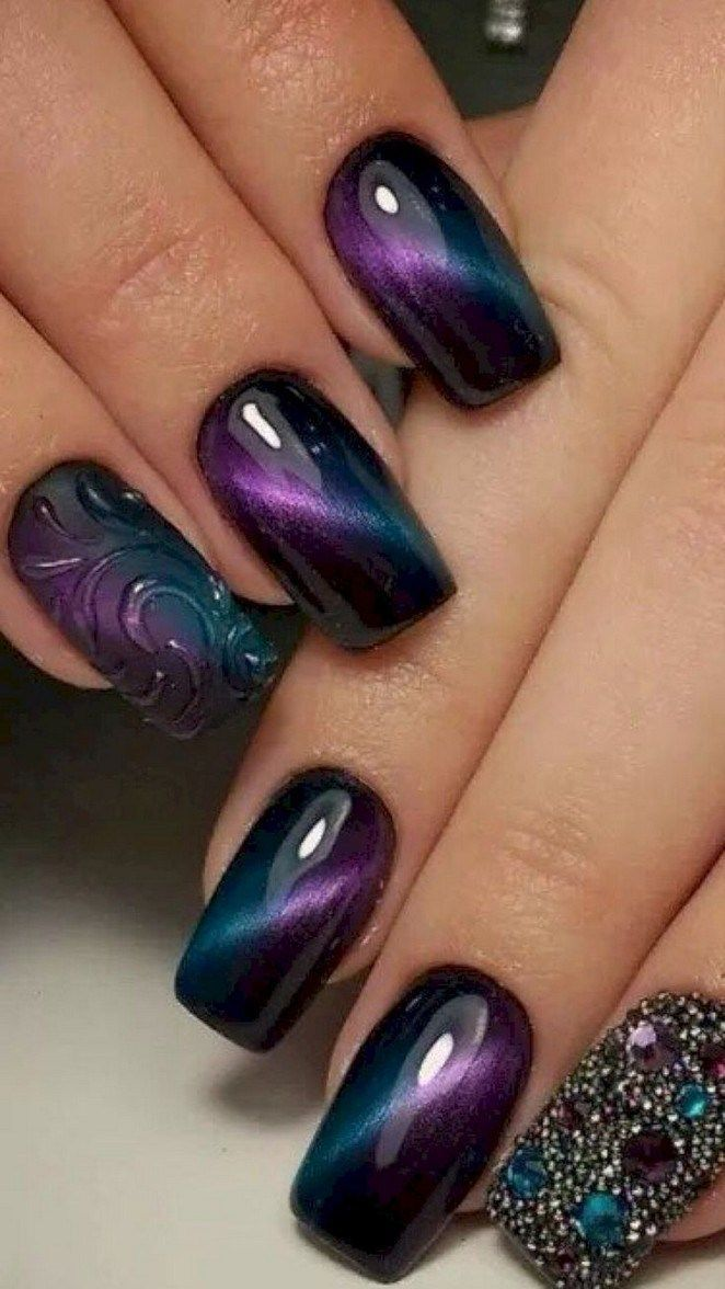 Trending black nails art manicure ideas 20 » canshave com  is part of nails - nails