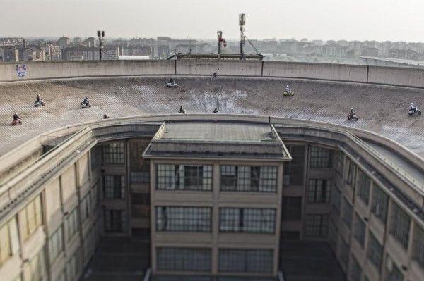 Rooftop Vespa Race Track