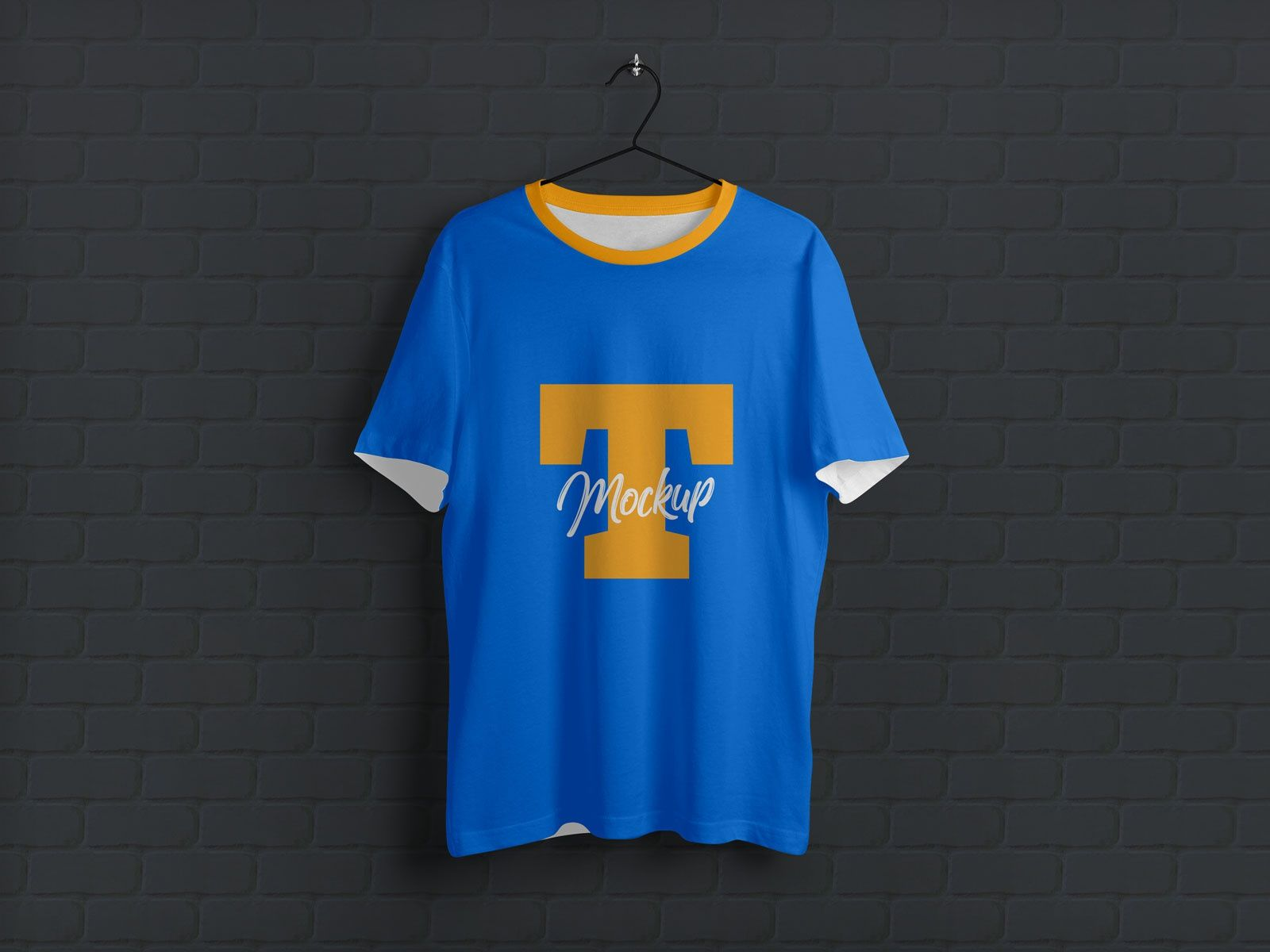 Download Free Hanging Half Sleeves T Shirt Mockup Psd
