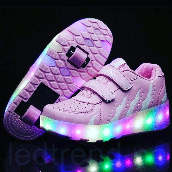 Bare ut Nye vår sko med led-lys og hjul under skoen? Om vi har da QX-17