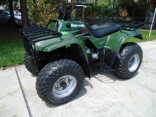 2003 kawasaki bayou 220cc atv four wheeler great condition 1800 cool stuff people. Black Bedroom Furniture Sets. Home Design Ideas