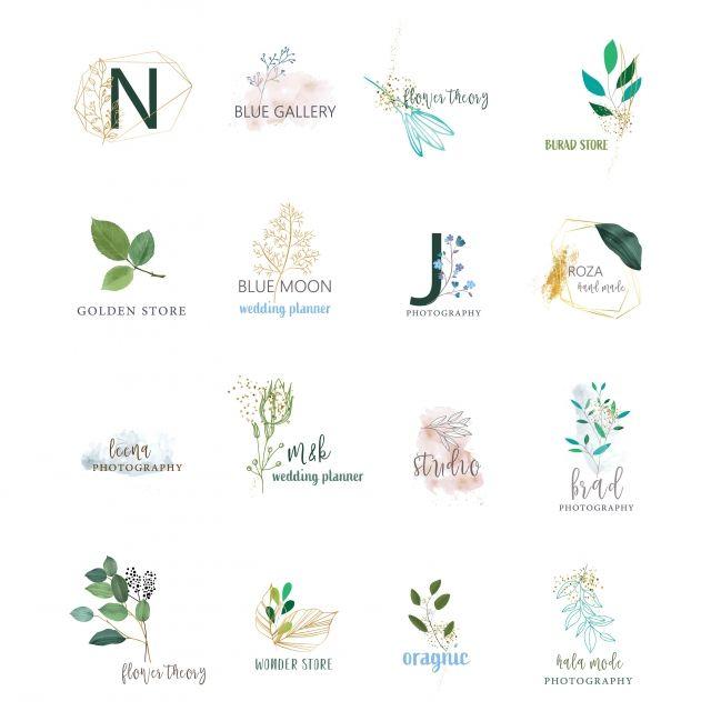 Wedding Florist Logos Template Collection: Floral Logo Collection Design, Logo, Flower, Business PNG