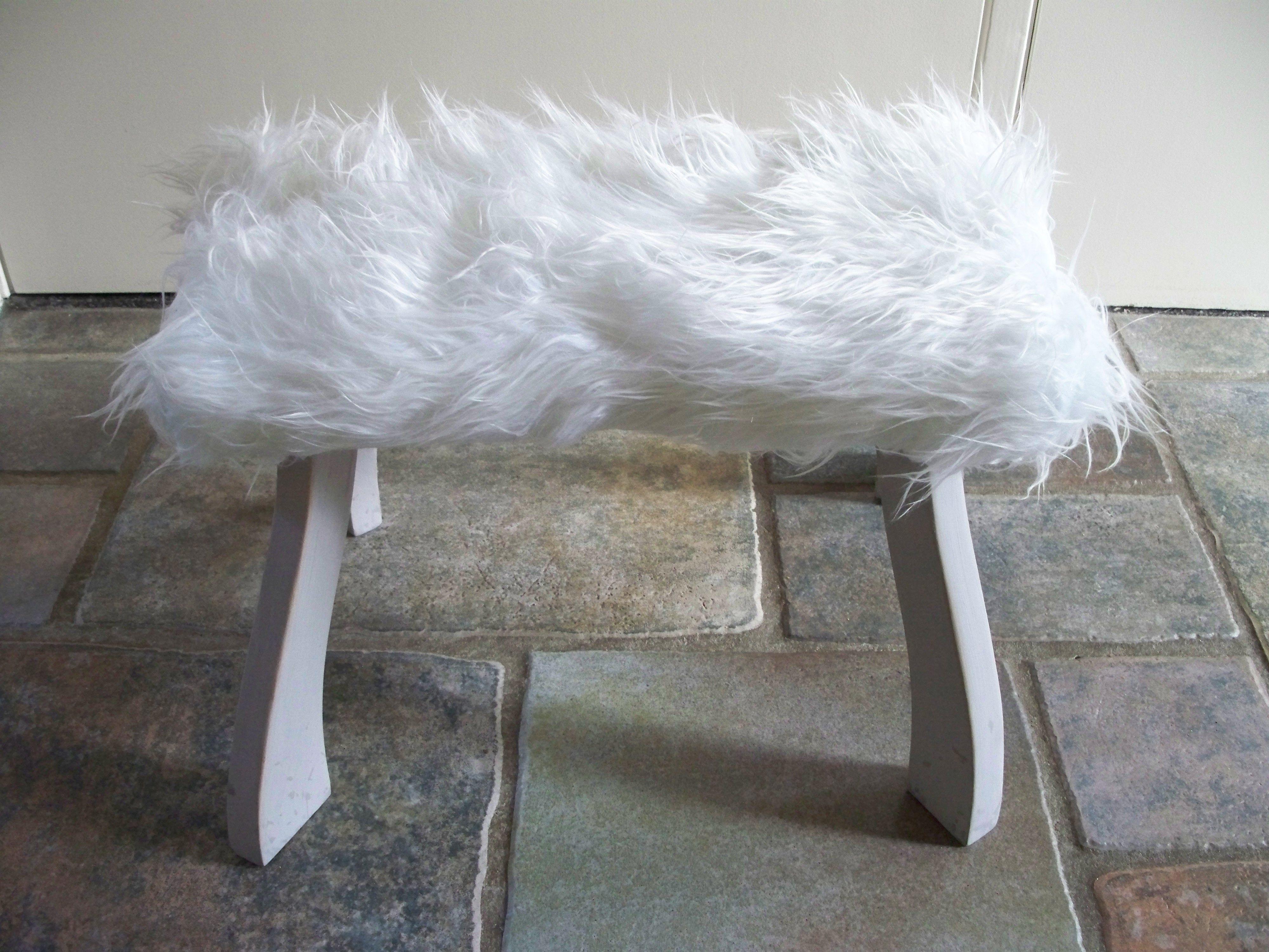 krukje met kunst schapenvacht