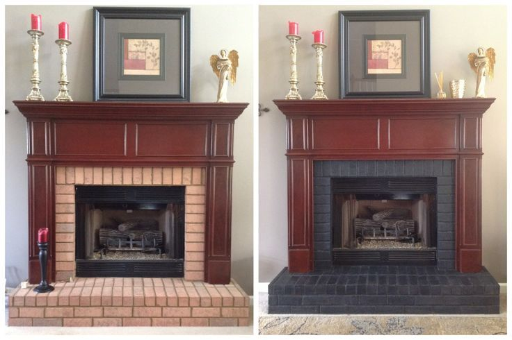 Concrete Stain Colors On Brick Fireplaces Google Search