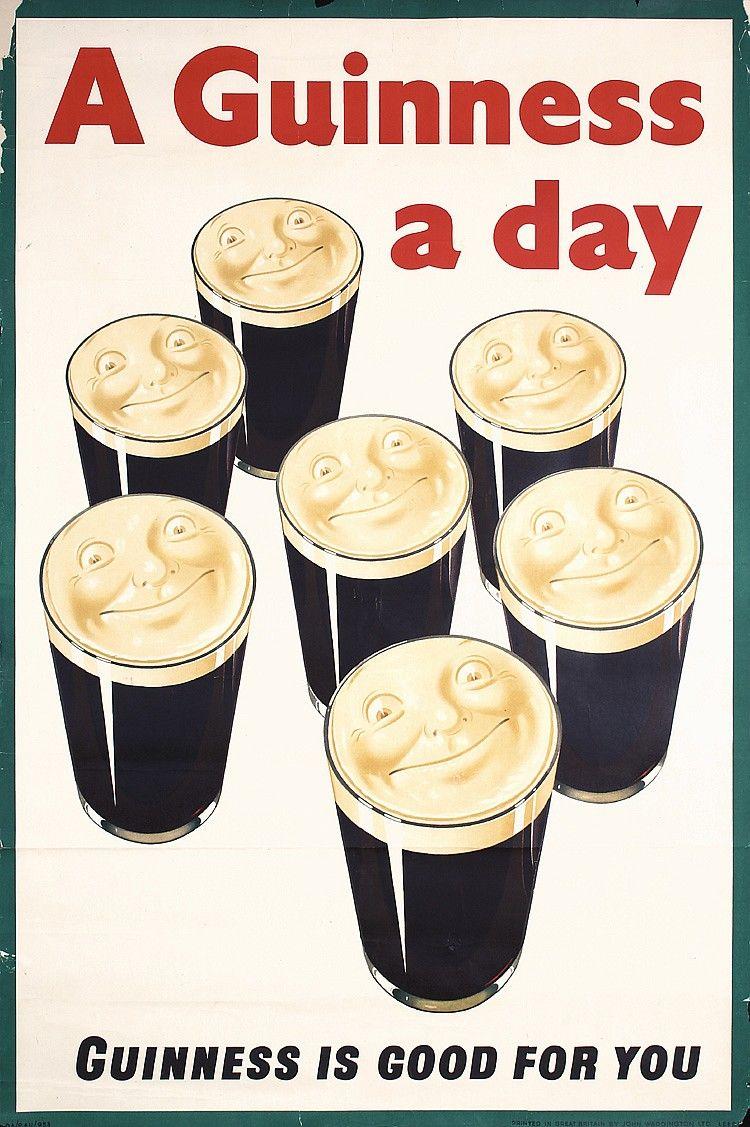FANTASTIC Huge Original 1930s Guinness Beer Poster UK Estimated ...