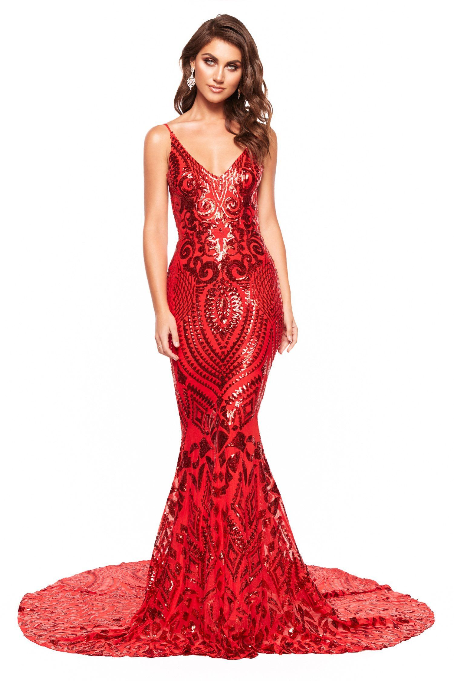 e69c5b1d A&N Luxe Mariana Sequin Gown - Red in 2019 | Prom dresses | Sequin ...