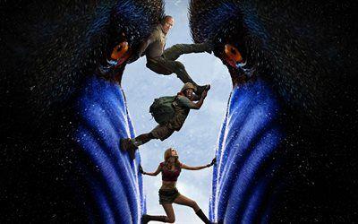 Scarica sfondi Jumanji Livello Successivo, 2019, 4k, poster, promozionale, materiali, tutti i personaggi, Dwayne Johnson, Karen Gillan besthqwallpapers.com