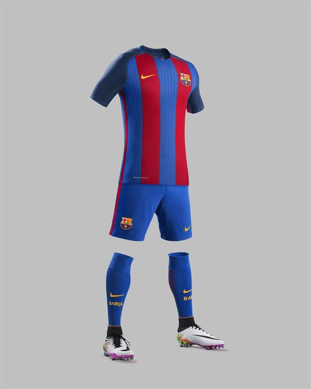 c8b0e6db5 Camisas do FC Barcelona 2016-2017 Nike kit Chuteiras Nike